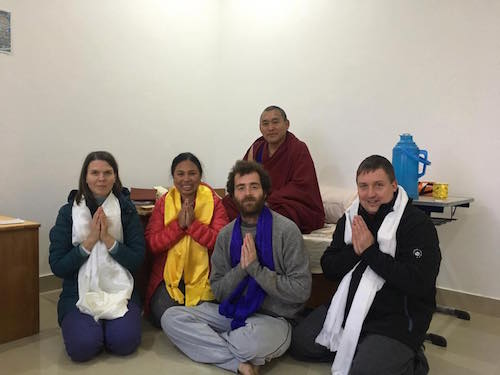 Lishu students with Khenpo-La