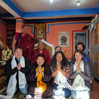 Lishu students at the Phowa Kusha - ceremony with Ponlop Rinpoche and Khenpo-La