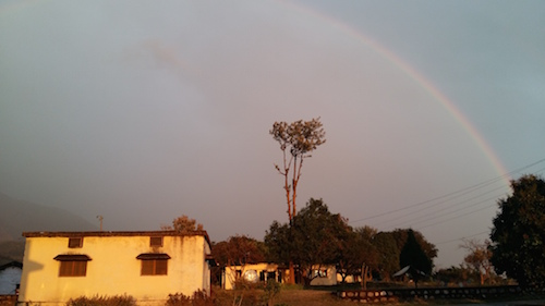 Rainbow at the Lishu land one day before finishing our second trimester