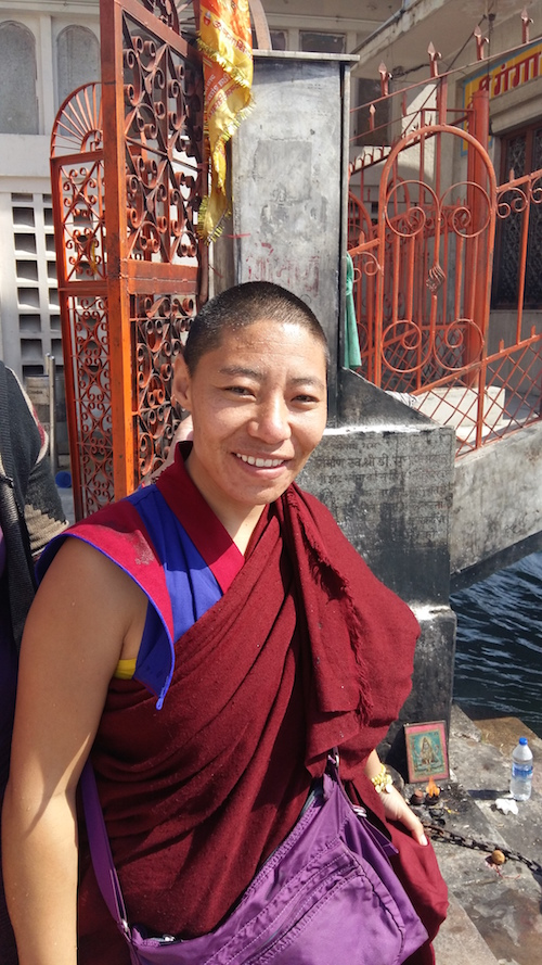 Samten, one of the 5 full ordinated Bonpo nuns living in India