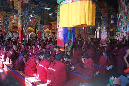 Menri Gompa on the initiation day
