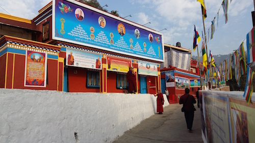On the way to Menri gompa